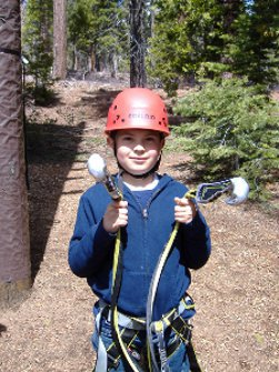 Tahoe Nanny child care and babysitting-Child in climbing gear